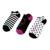 Volcom Happy Face Ruffle Top Ped Sock - 3 Pack - Women's