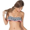 Jail Bird Layered Tube Bandeau Bikini Top - Women's